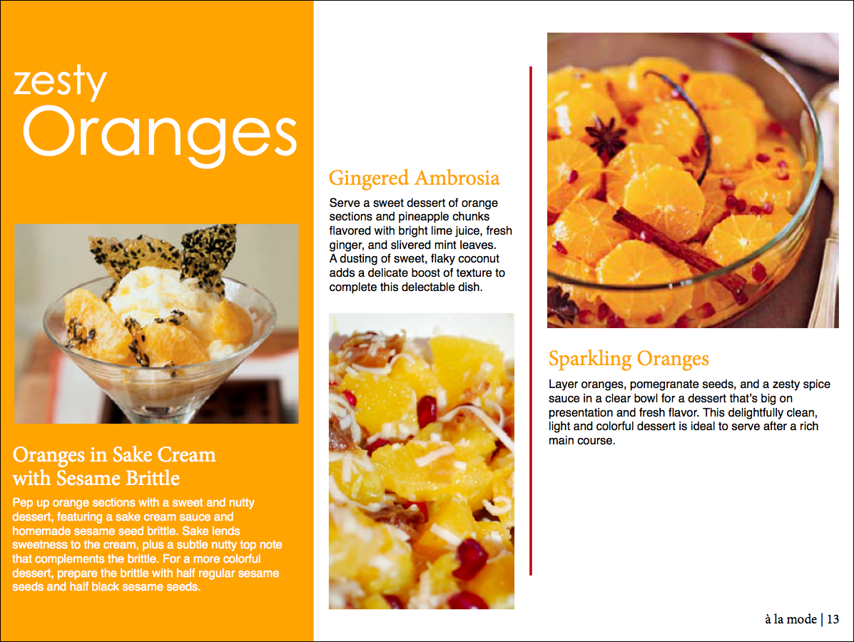 la mode the final section of the winter fruit desserts article features oranges a bright tangy yellow orange color spices up the color scheme and brings a lively forumfinder Images